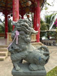 At the Chinese pavilion in Lumphini Park
