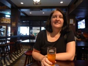 Lisa at Flann O'Brien's