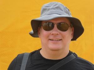 Robert in front of the Golden Mount