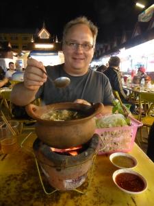 Hot pot at the Chiang Rai night market