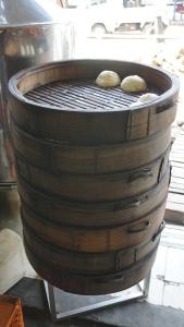 Dumplings waiting to be sold.