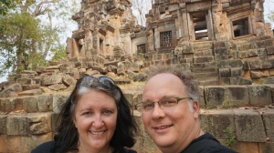 Robert and Lisa at Ek Phnom