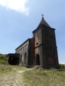 Abandoned French colonial church