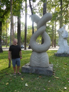 Robert in a Saigon park