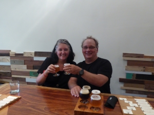 Robert and Lisa at Pasteur Street Brewing Company