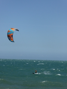 Kite surfing in Ham Tien