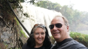 Lisa and Robert at the Elephant Waterfall
