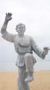 Weird marble statute