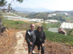 Robert and Lisa outside Dalat