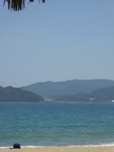 Our view from our Nha Trang lounge chairs