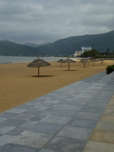 Quy Nhon boardwalk and beach