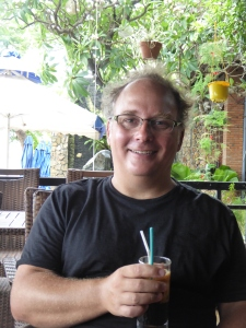 Robert drinking his beloved iced coffee in Quy Nhon