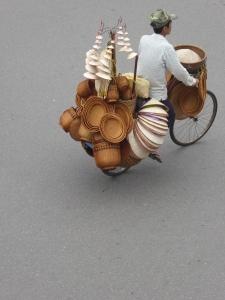 Hats on a bike