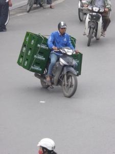Beer on a moto