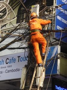 Line work in Hanoi