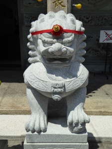 In front of a Chinese temple