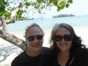 Lisa and Robert on a beach in Langkawi