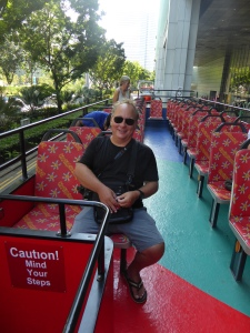 Robert on the hop on hop off bus