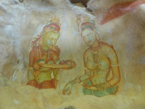 Frescoes at Sigiriya