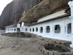 Exterior of the caves