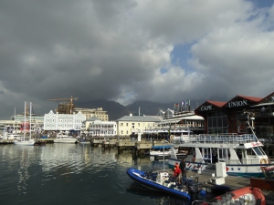 Clouds rolling in over the Cape Town waterfront