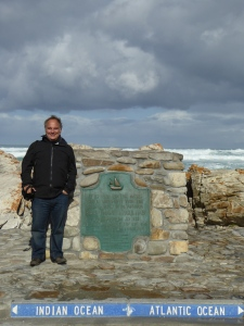 Robert at the place where the Indian and Atlantic oceans meet