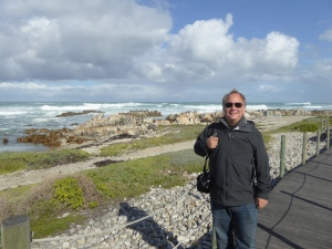 Robert at the southernmost point of Africa