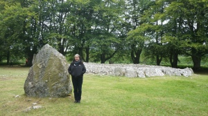 Lisa at Clava Cairn