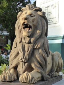 Lion in the town square