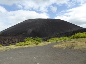 Our initial view of the volcano