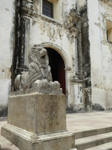 Lion next to the cathedral