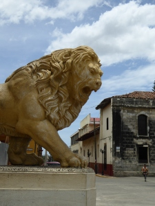 Lion in front of the cathedral