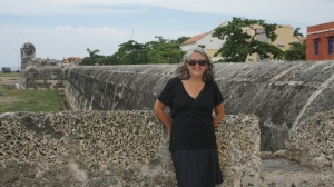 On top of the old walls of Cartagena