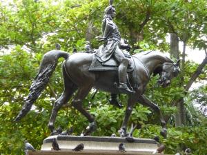 Simon Bolivar on a horse