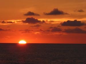 Sunset of the coast of Cartagena