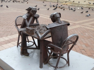 Playing chess with the pigeons