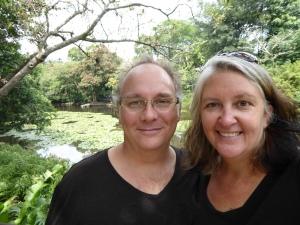 Robert and Lisa by the lagoon